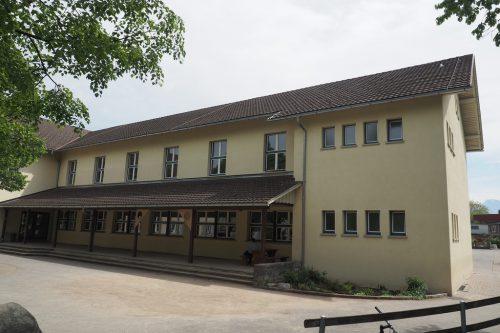 Im Ortskern soll das Bildungszentrum Frastanz-Hofen entstehen; gerechnet wird mit 18 Millionen Euro an Investitionen.he