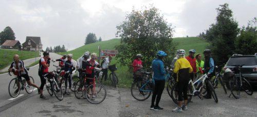 Das Radteam perpedales auf anspruchsvoller Tour im Kanton St. Gallen. radteam