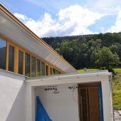 Kristbergsaal-Zubau im Baufinale