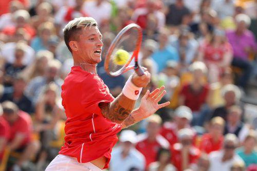 Dennis Novak hat mit einem 3:6-, 6:2-, 6:3-, 6:2-Sieg über die australische Nummer eins, Alex de Minaur, im Play-off das 2:0 für Österreich fixiert. GEPA