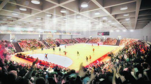 """Der 3000 Zuschauer fassende und von der Arbeitsgemeinschaft """"projektCC"""" konzipierte Sportpark in Graz ist aktuell die modernste Ballsporthalle in Österreich. ProjektCC"""