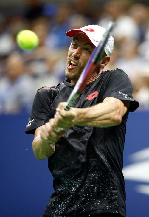 Der Australier John Millman feierte mit dem Erfolg über Federer im elften Duell mit einem Top-Ten-Spieler seinen ersten Sieg.AFP
