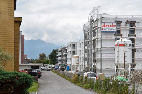 Der Bau von Miet- und Mietkaufwohnungen in Rankweil läuft derzeit auf Hochtouren. Gemeinde