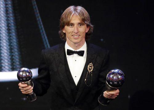 Der beste Fußballer der Welt in diesem Jahr: Luka Modric wurde von den Kapitänen und Trainern aller Nationalteams, Fans sowie Medienvertretern gewählt.ap