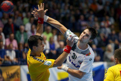 Der Kroate Ivan Horvat war mit sieben Treffern erfolgreichster Harder Werfer bei der 21:27-Niederlage in Krems. gepa