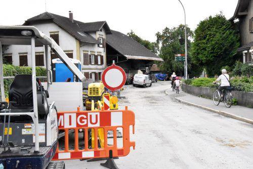 Die Bauarbeiten an der Hofsteigstraße in Hard stehen vor dem Abschluss. ajk