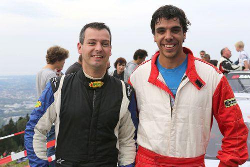 Die beiden Gipfelstürmer Christoph Lampert (links) und Lukas Boric.noger