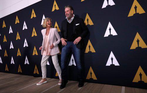 """Die beiden """"Grease""""-Darsteller Olivia Newton-John und John Travolta haben 40 Jahre später nichts an ihrer Dynamik eingebüßt. Reuters"""