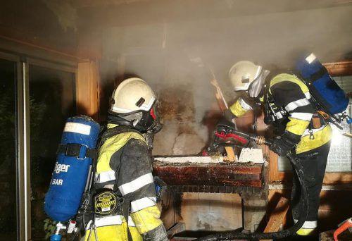 Die Feuerwehr war rasch zur Stelle. FW Göfis
