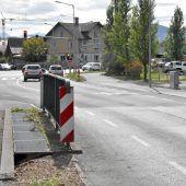 Brückenneubau: Umleitung in Hard