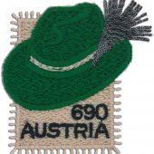 Woll-Briefmarke aus Ländle-Stickerei