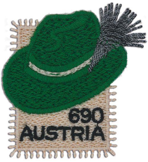 Die Marke wurde mit rund 6600 Stichen aus 33 Metern Stickfaden gefertigt. APA