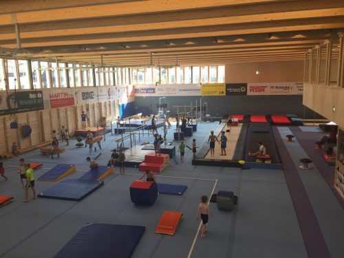 """Die neue Turnhalle in Wolfurt ist das erste """"Nachhaltig Bauen""""-Projekt, das die Hürde von 950 Punkten genommen hat. VN/Ger"""