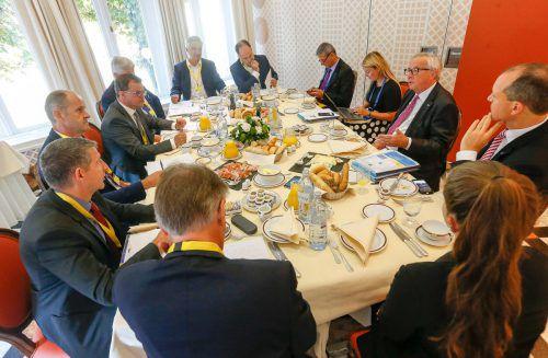 """""""Die Österreicher machen das sehr gut"""", sagt Kommissionspräsident Juncker über den EU-Vorsitz. SN/Robert Ratzer"""