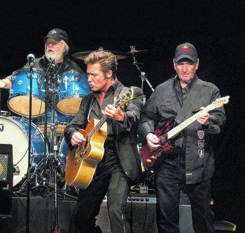 """Die """"Original Band of Elvis"""" und Dennis Jale lassen den King wieder aufleben. Special Guests beim Konzert in Bregenz sind """"The Monroes"""".isabelle Weigand"""