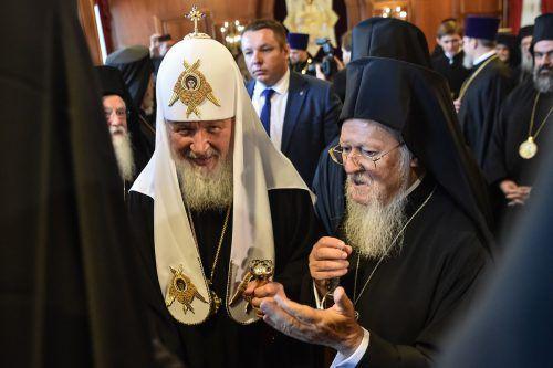 Die Patriarchen Kirill I und Bartholomaios I. trafen sich in der Türkei. afp