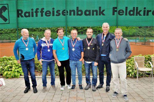 Die Sieger im Herren-Doppel 55 der Seniorenlandesmeisterschaft.Emir T. Uysal
