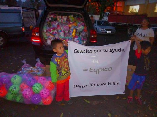 Die Spende wurde in Guatemala freudig entgegengenommen. Erick . Reyes.