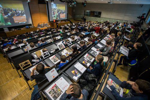 Die Studenten von morgen. Die Kinder-Uni der FH Vorarlberg macht Lust auf Technik. Jetzt gibt es auch eine Jugend-Uni. VN/steurer