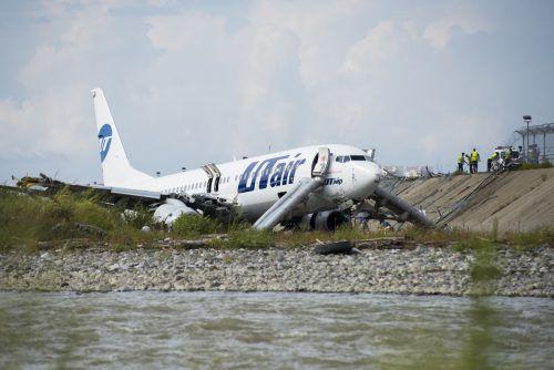 Die Utair-Maschine wurde schwer beschädigt. ap