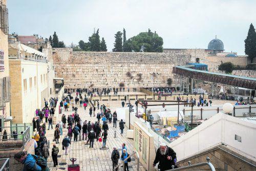 Die weltberühmte Klagemauer in der Altstadt von Jerusalem ist die heilige Städte des Judentums. beate Rhomberg (5)