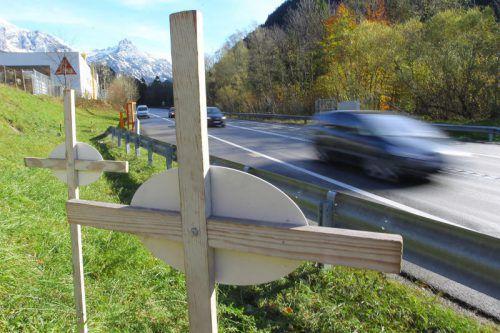 Die Zahl der Todesopfer auf Vorarlbergs Straßen ist heuer wie auch im Vorjahr wieder deutlich angestiegen. VN/HB