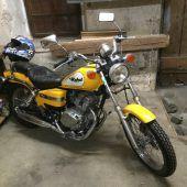 Motorrad in Diebeshand