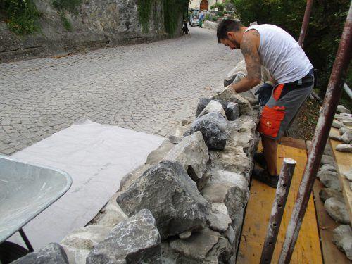 Ein rund 13 Meter langer Teilabschnitt wurde restauriert. Gemeinde/Otto Summer