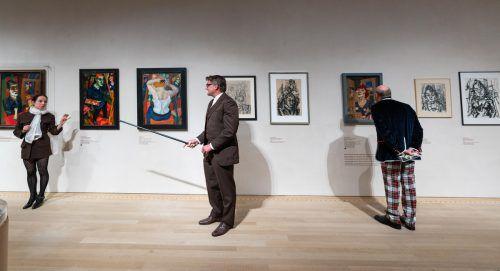 Ein Theaterprojekt im Museum vermittelt Geschehnisse im Leben des Bregenzer Malers Rudolf Wacker (1893–1939). Stiplovsek