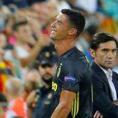 Ronaldo sieht Rot, Juve siegt dennoch