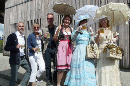 Eine Delegation aus Dornbirn war zu Besuch beim Bahnhofsfest. Stadt dornbirn