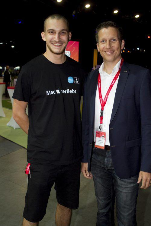 Epos-Spezialist Lukas Degenkolb (l.) und Michael Sutterlütti (SPK Dornbirn).