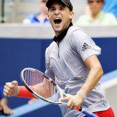 Thiem bei US Open im Viertelfinale. C1