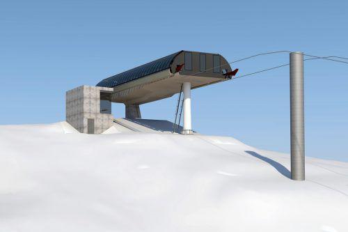 Was die Silvretta Montafon im Herbst als Computerbild präsentierte, wird am Samstag in echt eröffnet: die neue Jöchle Bahn. Rendering SM