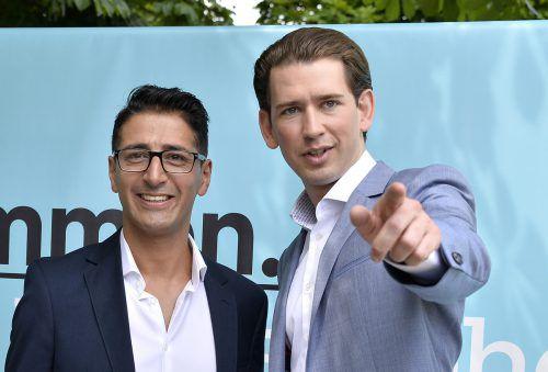 Für Sebastian Kurz hat Efgani Dönmez (l.) keinen Platz mehr in der Partei. apa