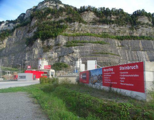 Gegen einen Steinbruchausbau gibt es politischen Widerstand. VN