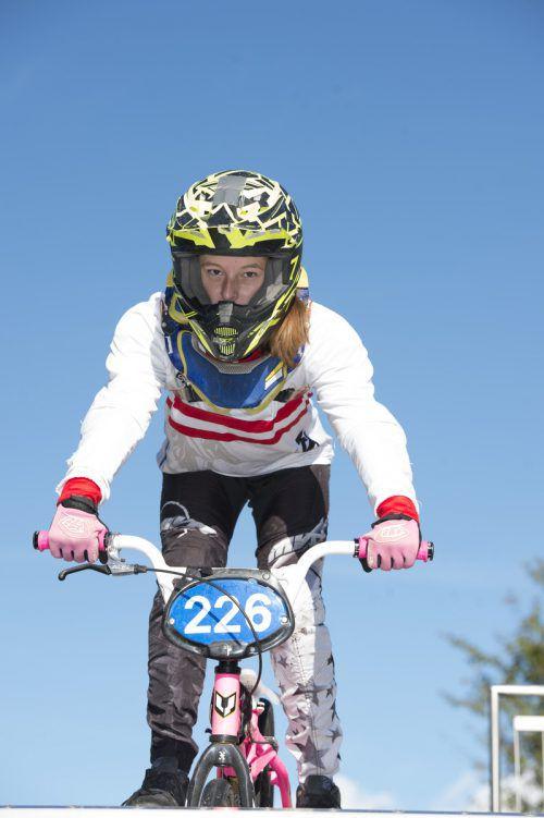 Hannah Muther lieferte ein bärenstarkes Saisonfinale ab. BMX Bludenz