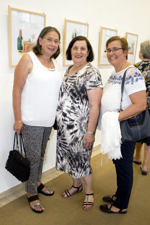 Herta Weinzierl (l.), Rita Fontanari und Erika Ritter.