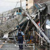 In Japan wütet Jebi, der stärkste Taifun seit 25 Jahren