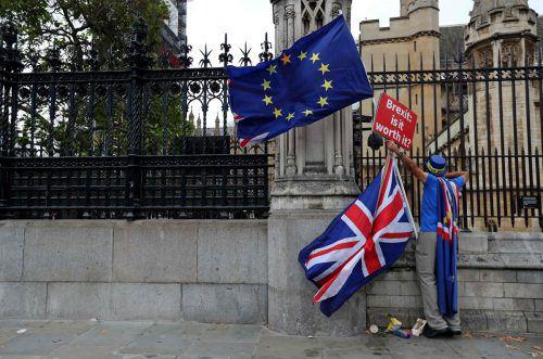 In Großbritannien wird weiter gegen den Brexit demonstriert. afp
