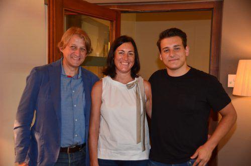 Manfred, Ulrike und Lukas Vonbank kamen ins Hotel Traube.