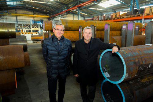 Markus Lutz und Stefan Girardi (r.) wollen schneller bauen.VN/Paulitsch