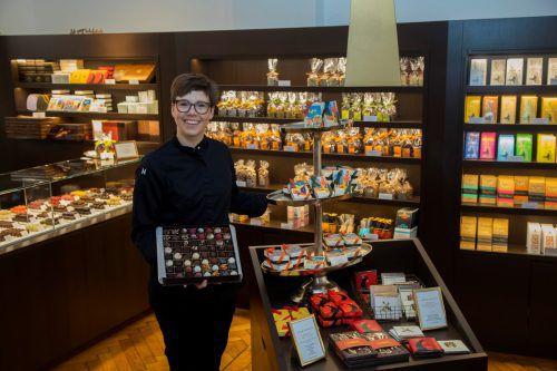 Martina Homann-Dellantonio entschloss sich nach dem Studium, die Lehre zur Konditorin zu machen. Seit 2016 hat sie ihren eigenen Laden in der Kirchstraße. VN/RP