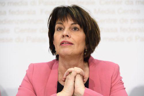 Ministerin Doris Leuthard hat ihren Rücktritt bekannt gegeben. ap