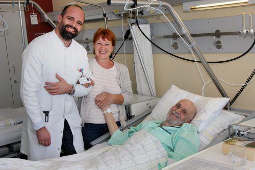 Monika und Gerhard Draxler können nach dem erfolgreichen Eingriff von Primar Ingmar Königsrainer wieder Hoffnung schöpfen.khbg