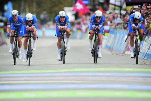Nach 2012, 2013 und 2016 sicherte sich das belgische World-Tour-Team Quick Step zum vierten Mal den Sieg im Mannschaftszeitfahren bei einer Straßen-Weltmeisterschaft. Veranstalter