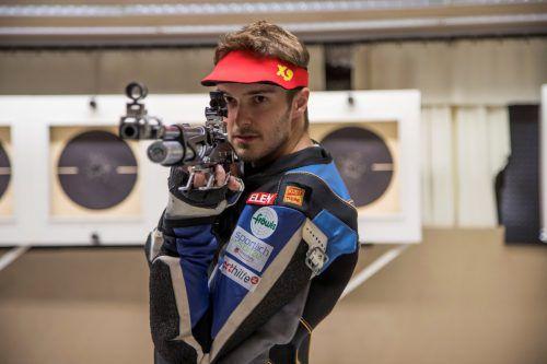Thomas Mathis verfehlte bei der EM im Mixedteam das Finale um 2,5 Ringe.Paulitsch