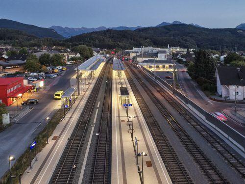 Nach drei Jahren Bauzeit wurde der modernisierte Bahnhof Rankweil eröffnet. ÖBB