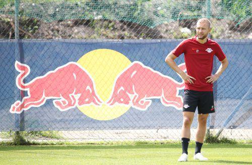 Nach Verletzungsproblemen zu Beginn der Saison kämpft sich der Ex-Salzburger Konrad Laimer bei Leipzig zurück in die Stammformation.gepa