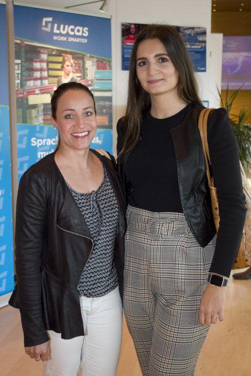 Nicole Meier (l.) und Arberie Halimi (SFS).